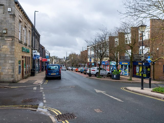 Horsforth town centre stock image