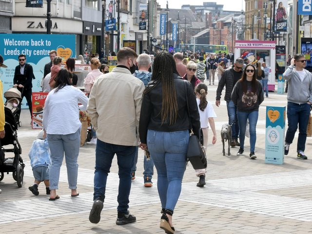 Shoppers in Leeds city centre (photo: Gary Longbottom)