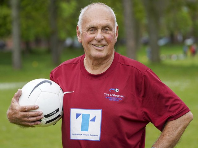 Sprightly John Wootton made his debut for College FC on his 80th birthday.