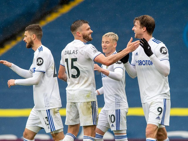 NEW DEALS? Patrick Bamford's long-term Leeds United future is expected to be confirmed in the summer, when players like Stuart Dallas will be in line for new deals to reflect their Premier League status. Pic: Bruce Rollinson