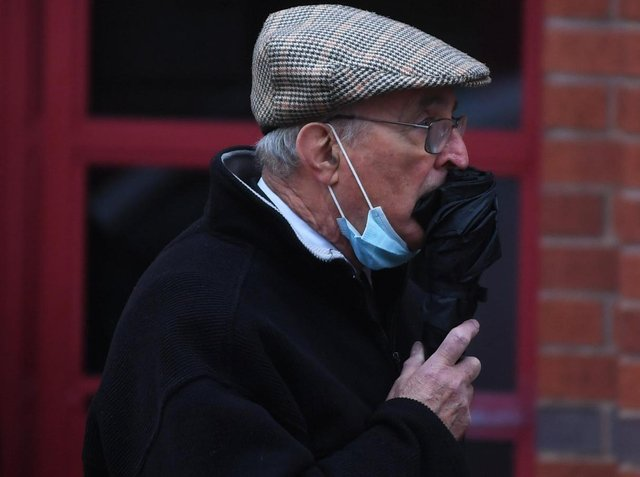 Father Patrick Smythe, pictured outside Leeds Magistrates' Court at an earlier hearing.