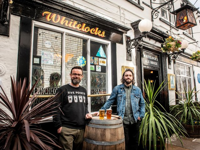 Whitelock's owner Ed Mason (left) with operations manager Dave Herbert