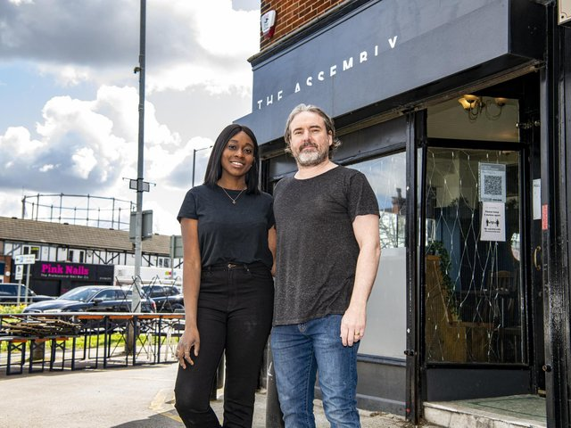 Stephanie Cliffe, 36, and Matthew, 43, own The Assembly in Cross Gates. The pair opened their bar, bottle shop and café in a tiny unit in Station Road in 2018.