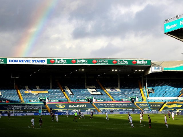 Leeds United fans will return to Elland Road on May 23. Pic: Getty