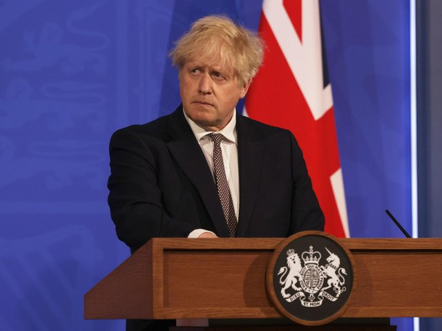 Prime Minister Boris Johnson during a media briefing in Downing Street. Picture: Dan Kitwood/PA Wire