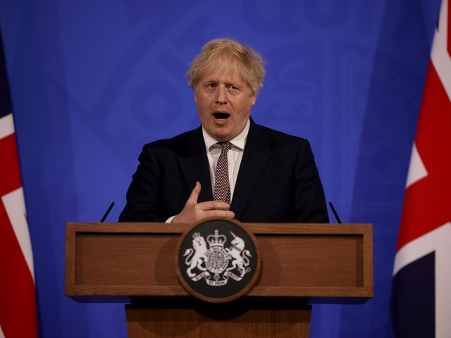 Prime Minister Boris Johnson during a media briefing in Downing Street, London, on coronavirus (photo: PA).