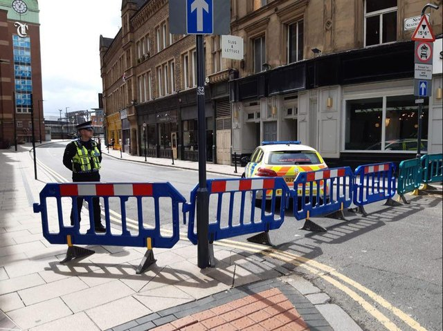 Picture from the scene outside Leeds station