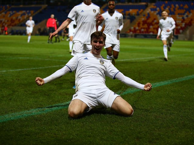 CALLED UP - Cian Coleman scored for Leeds United Under 18s in the FA Youth Cup win over MK Dons. He and team-mate Ben Andreucci have been called up by Republic of Ireland Under 19s for a training camp. Pic: Leeds United