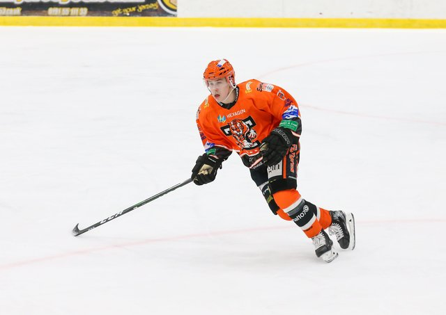 NEW START: Forward Kieran Brown is excited about finally getting his chance to play for Leeds' NIHL National team at Elland Road. Picture courtesy of Andy Bourke/Podium Prints.