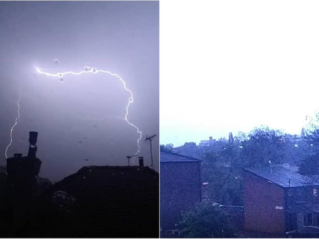 Thunder in Leeds last night.