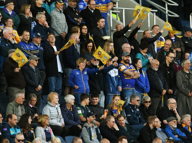Rhinos fans will be back in the Headingley stands later this month. Picture by Jonathan Gawthorpe.