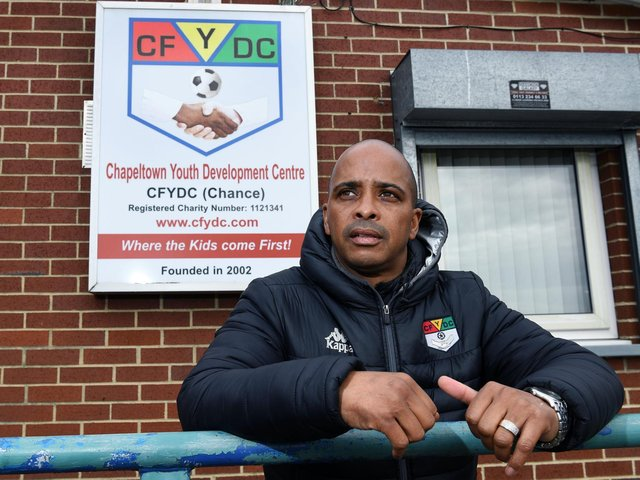 Lutel James, CEO of the Chapeltown Youth Development Centre, which works to keep young people away from gangs and criminality