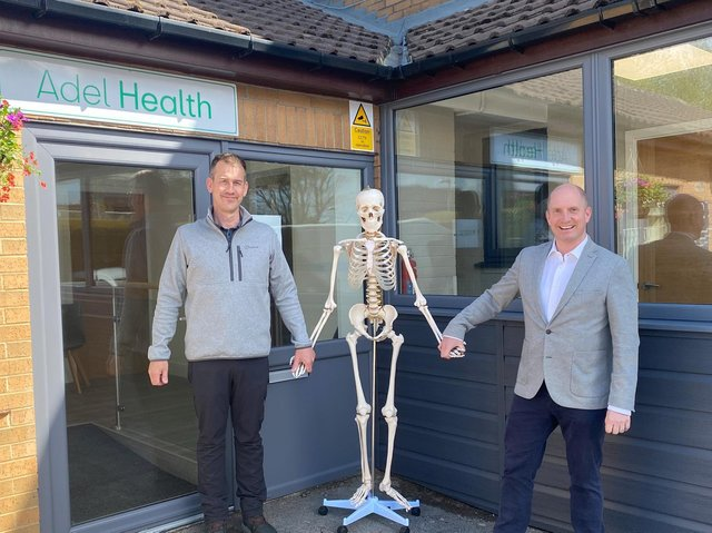 Investor Dan Besau and Simon Dalingwater from Adair Paxton at Adel Health.