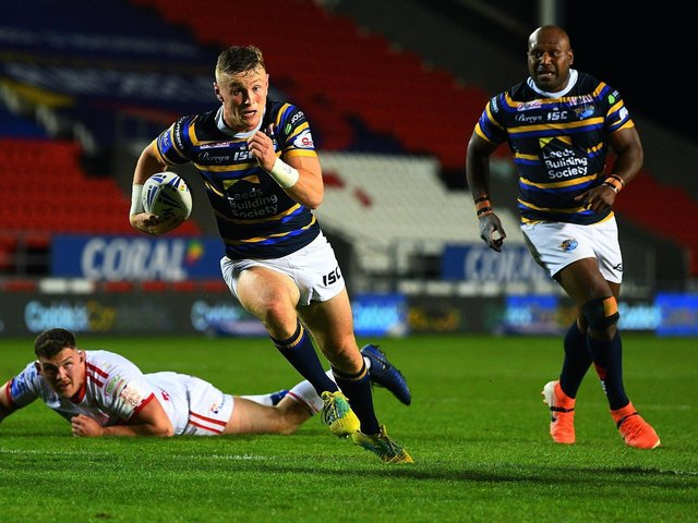 Rhinos' Harry Newman, who could be back in action next month. Picture by Jonathan Gawthorpe.