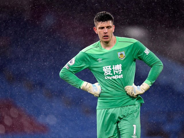 'NIGGLES': For Burnley's England international goalkeeper Nick Pope. Photo by PETER POWELL/POOL/AFP via Getty Images.