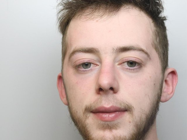 Louis Watson was jailed for four years for robbing a man outside an Aldi store and spitting at a police officer.