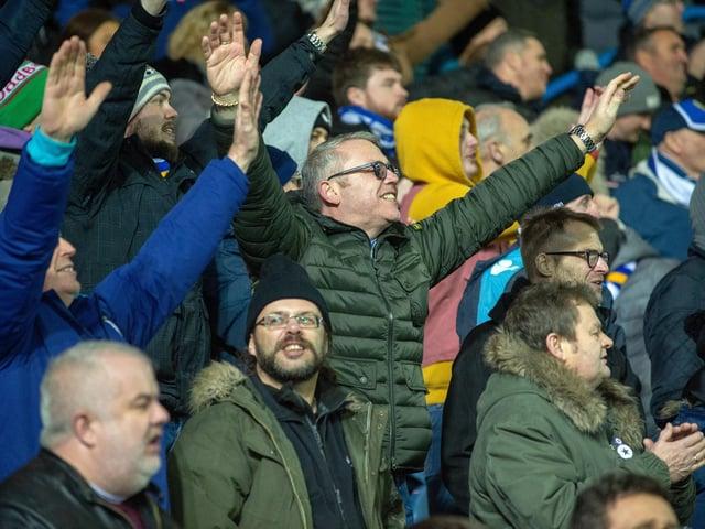Leeds United fans at Elland Road pre-Covid.