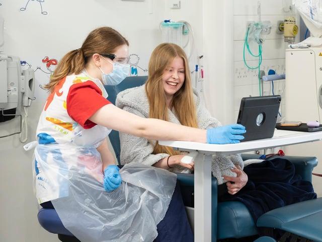 Leeds Children's Hospital patient Hannah Firbank