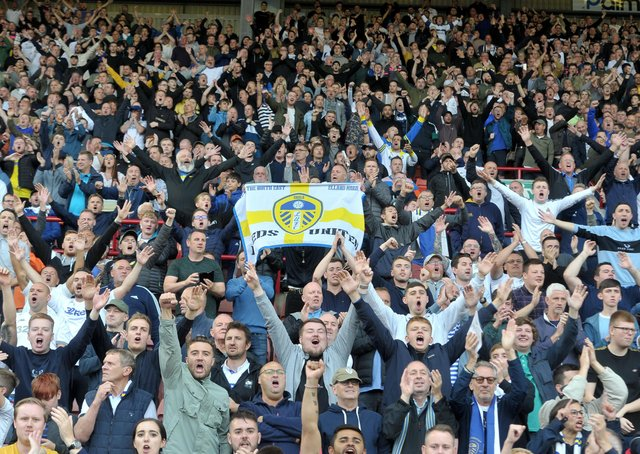 Fans will be back at Elland Road for the last home game of the season. Picture: Tony Johnson