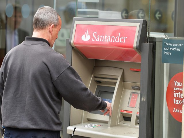 Some Santander customers in Leeds have been unable to withdraw cash (Photo: John Stillwell/PA Wire)