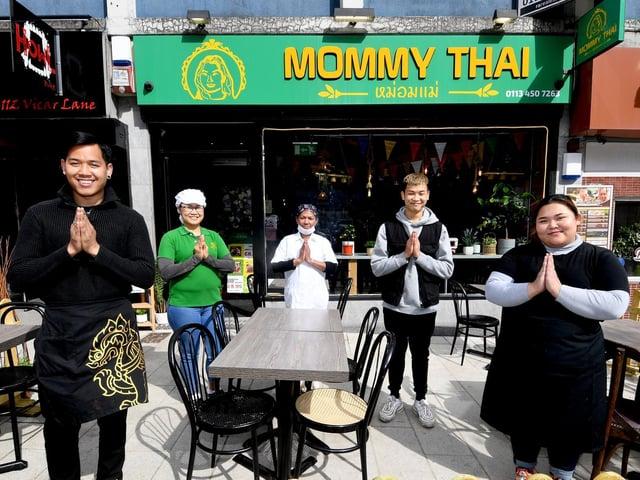 The staff at Mommy Thai, Vicar Lane (photo: James Hardisty).