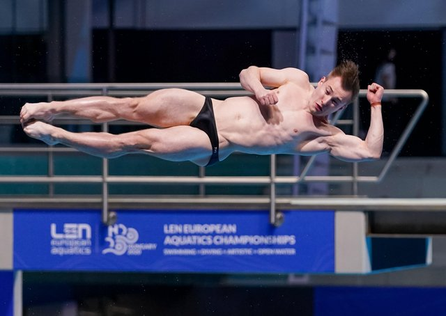 Jack Laugher of Great Britain competing in the Mens 3m Springboard Preliminary during the LEN European Aquatics Championships Diving at Duna Arena on May 14, 2021 in Budapest,  (Picture: Andre Weening/BSR Agency/Getty Images)