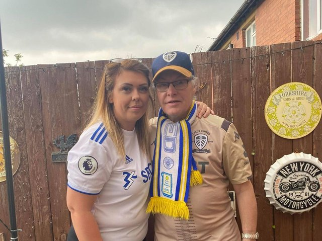 Mark White, 60, with his daughter Tanya Gibbons