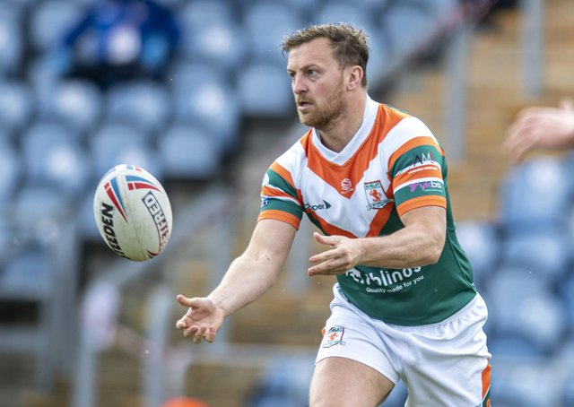 Hunslet's Simon Brown was a key player in the victory at North Wales Crusaders.  Picture: Tony Johnson.