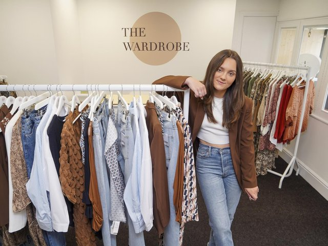 Lucy Millard in her newly-opened boutique