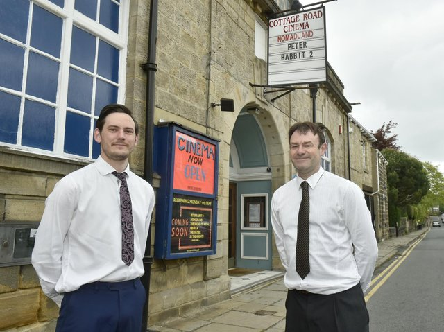 Gary Benn (left), manager of Cottage Road Cinema Headingley, and Steven Moore, assistant manager.  Photo: Steve Riding