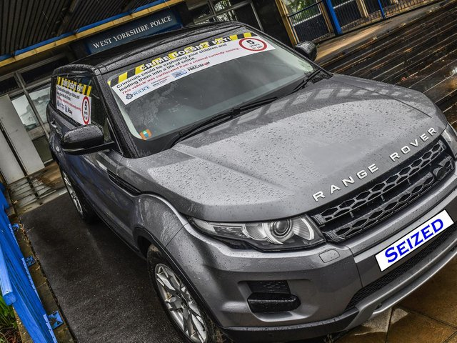 Range Rover seized from convicted criminal to be auctioned by West Yorkshire Police cc WYP