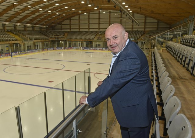 NEW ERA: Leeds Knights' team owner, Steve Nell, pictured at Elland Road Ice Arena. Picture: Steve Riding.