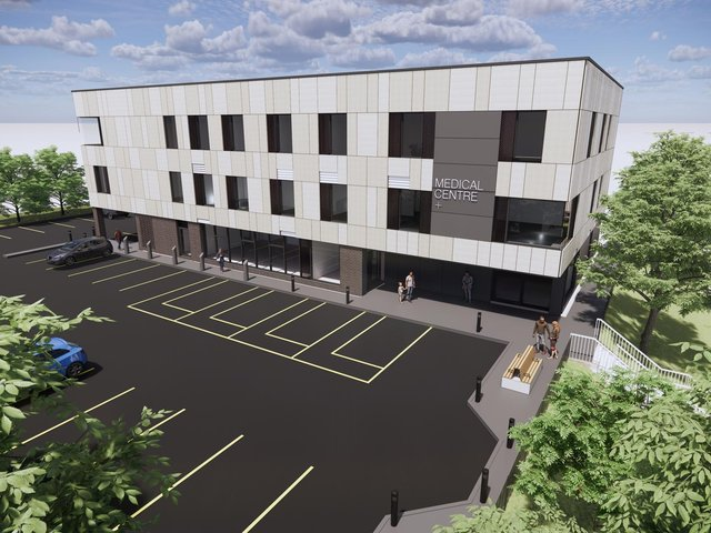 A CGI image of the proposed medical centre on Harehills Lane. Picture:  MGI Healthcare Developments
