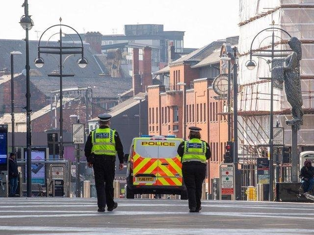 Police were called to a report of a fight in Briggate at 5.25pm today.