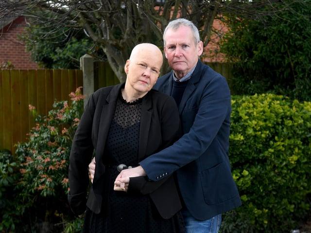Dawn and Mark Dillon pictured in February  Photo: Simon Hulme