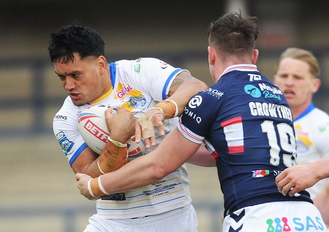 Zane Tetevano should make a welcome return to action for Leeds Rhinos against Hull FC. Picture: Steve Riding.
