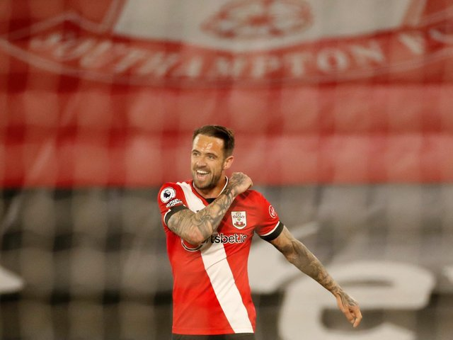 MARKET LEADER: Southampton's England international striker Danny Ings, above, is just about favourite to score first in Tuesday evening's clash against Leeds United at St Mary's. Photo by ANDREW BOYERS/POOL/AFP via Getty Images.