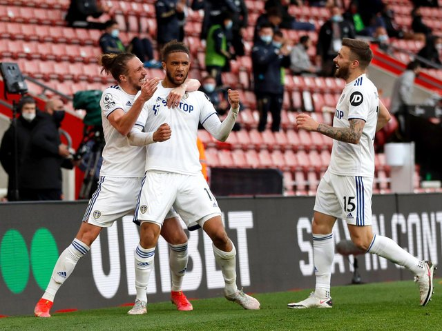 BIG MOMENT - Tyler Roberts scored his first goal in the Premier League for Leeds United in their 2-0 win at Southampton. Pic: Getty