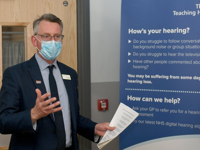 Julian Hartley the Chief Executive for Leeds Teaching Hospitals at the new Hearing and Balance Service at Seacroft Hospital  which he officially opened. Picture: Gary Longbottom
