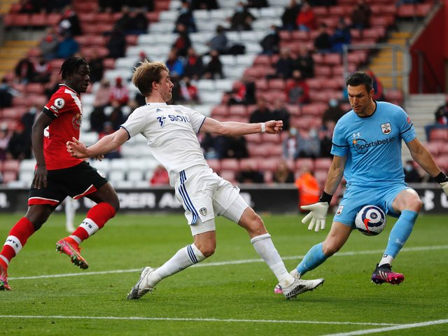 SWEET SIXTEEN: For Leeds United striker Patrick Bamford as he nets from the tightest of angles in Tuesday evening's clash at Southampton to further boost his Premier League goals tally. Photo by Frank Augstein - Pool/Getty Images.