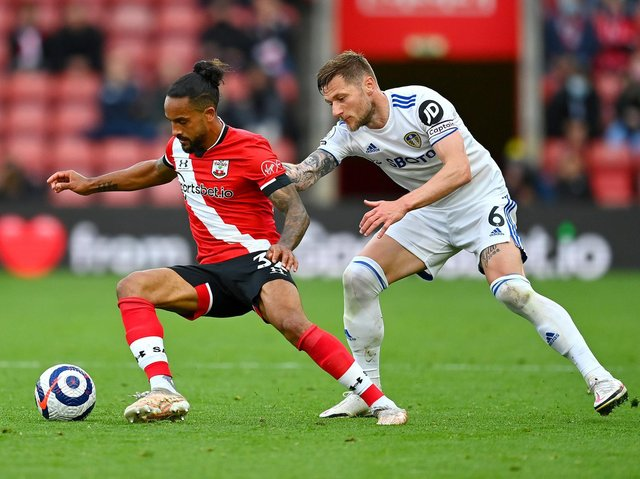 Leeds United captain Liam Cooper in action against Southampton. Pic: Getty