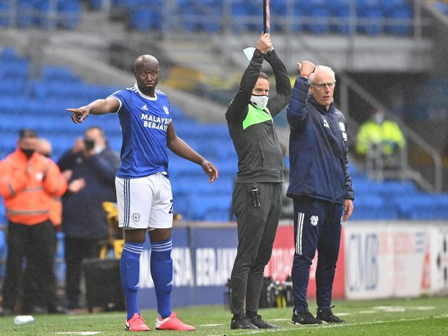 BACK PLAYING - Former Leeds United captain Sol Bamba returned to play for Cardiff City in their Championship finale against Rotherham United. Today he declared himself cancer free. Pic: Getty