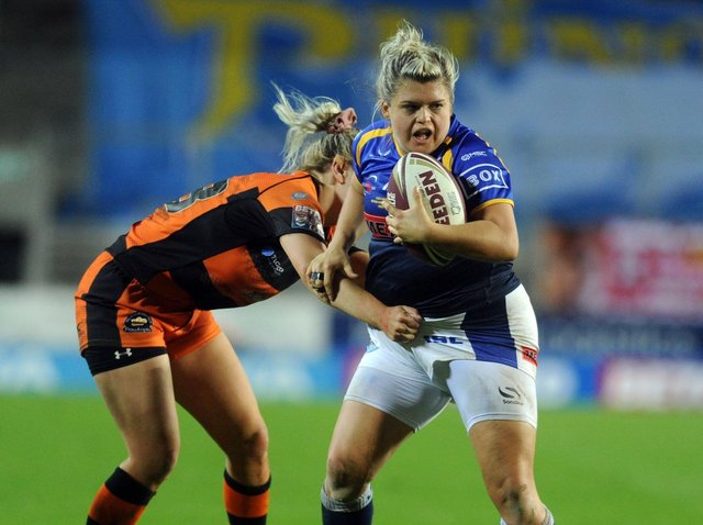 Aimee Staveley in action for Leeds in the 2019 Grand Final. Picture by Steve Riding.