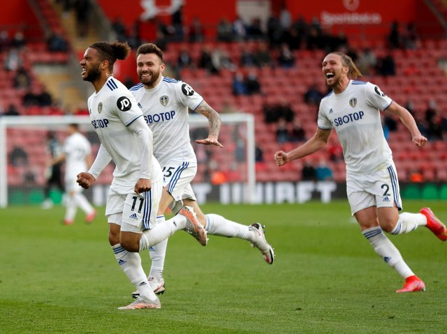 STILL PUSHING - Tyler Roberts, who scored his first Premier League goal last night at Southampton, says Leeds United will push to the very last. Pic: Getty