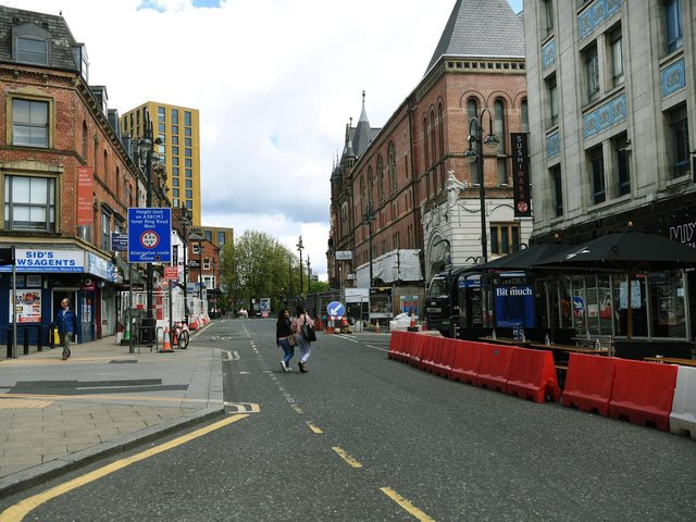 New Briggate, in Leeds city centre. Picture: Jonathan Gawthorpe.