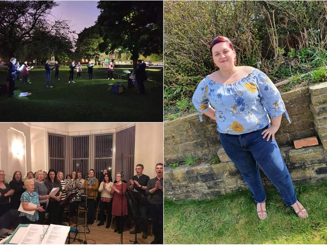 Jenny Leigh, 35, is the leader of Calverley Community Choir, who were hoping to be able to rehearse indoors following the latest change of lockdown restrictions.