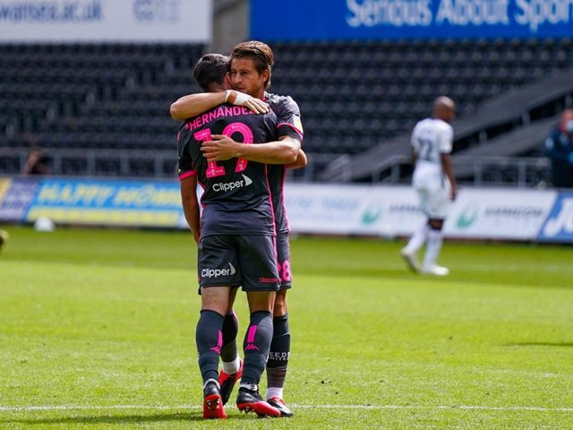 Leeds United duo Pablo Hernandez and Gaetano Berardi will depart Elland Road this summer. Pic: LUFC