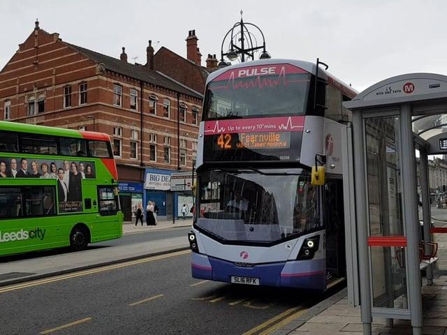 A bus on the Headrow.