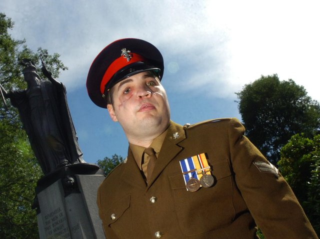 Cpl Simon Brown has shared a touching letter he wrote to the man who rescued him after being shot in the face