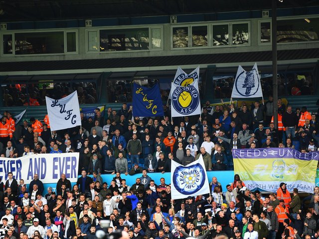 Leeds United fans at Elland Road during the club's centenary celebrations in 2019. Pic: Jonathan Gawthorpe